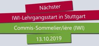 IWI Stuttgart, Commis Sommelier Ausbildung