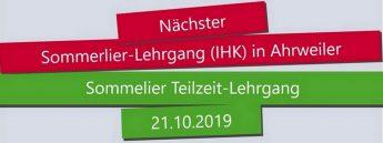 IHK-Sommelier IWI 21. Oktober in Ahrweiler